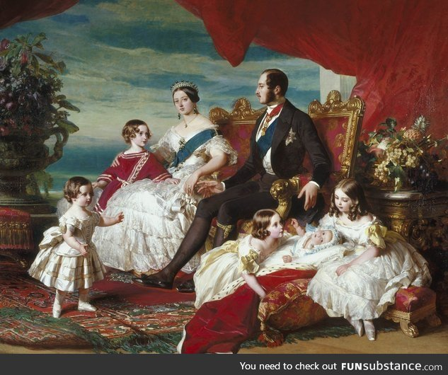 The Royal Family in 1846 by Franz Xaver Winterhalter, German painter