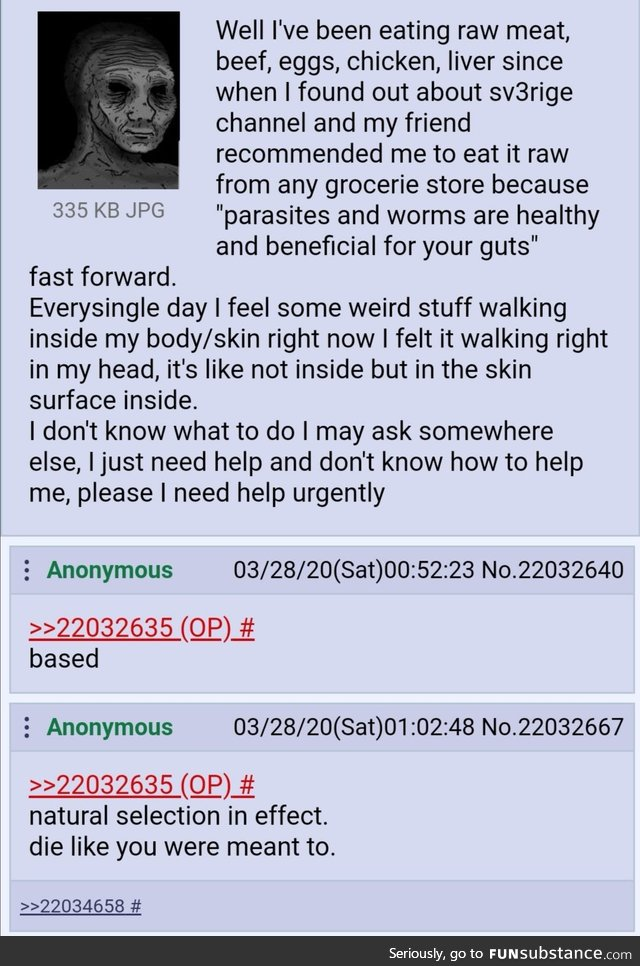 Based anon eats meat