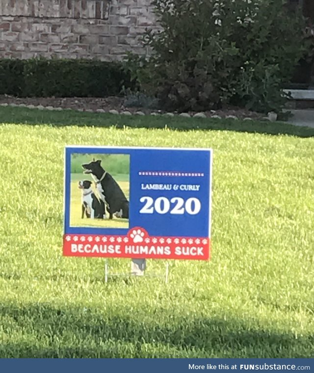 House next door in our politically divided neighborhood