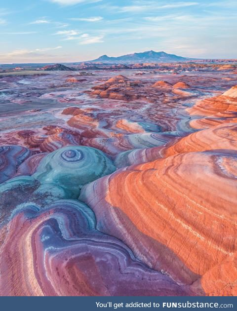 A beautiful and colorful landscape in St.George, Utah