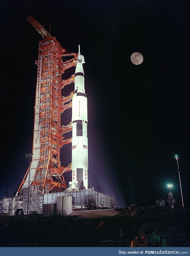 Apollo 17 and it's destination captured in one photo
