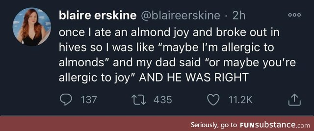Joy is a histamine