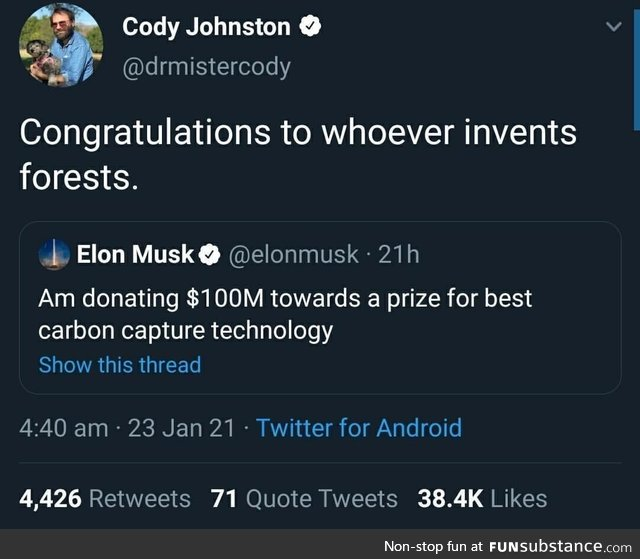 "Or the ""let's leave the ***ing oil in the ground"" technology"