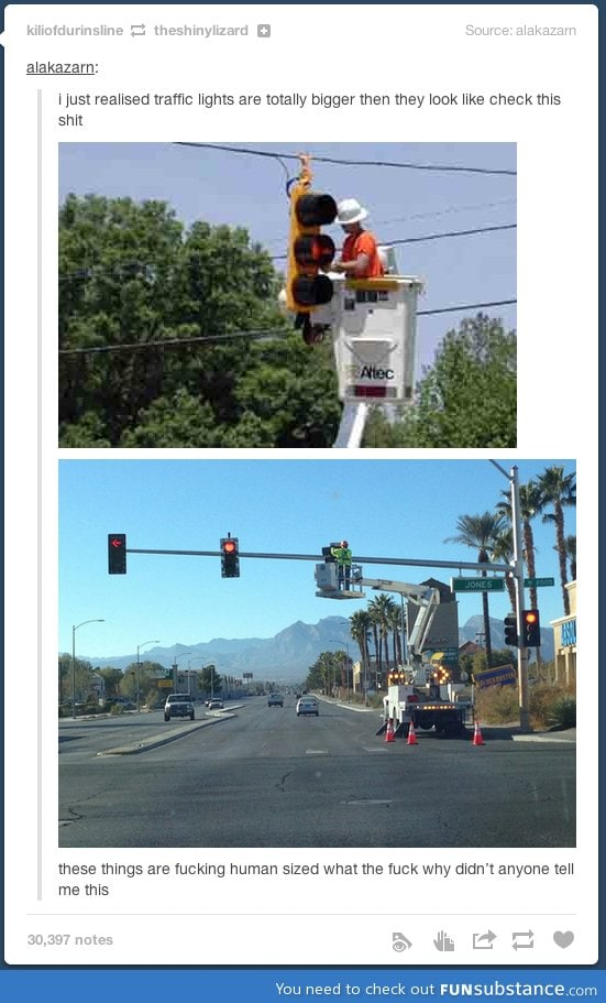 Traffic lights are actually pretty huge