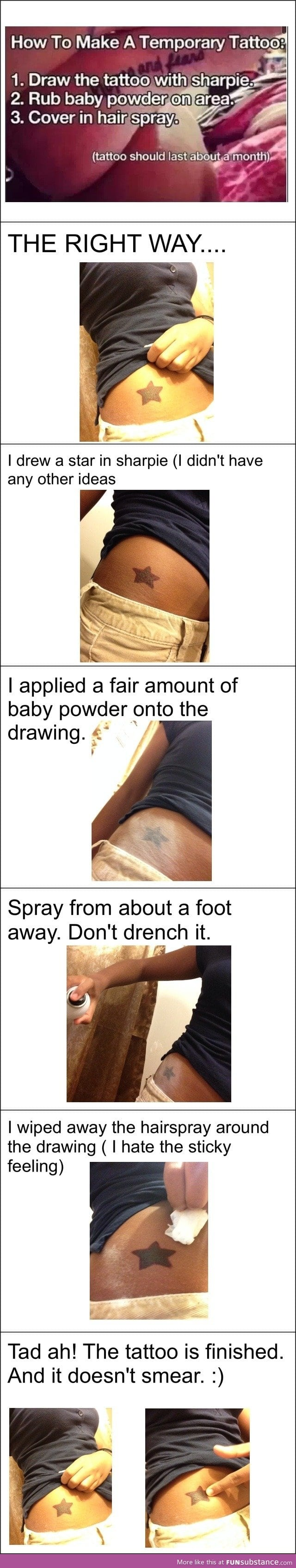 Make a sharpie tattoo that lasts a month funsubstance for How to get fake tattoos off