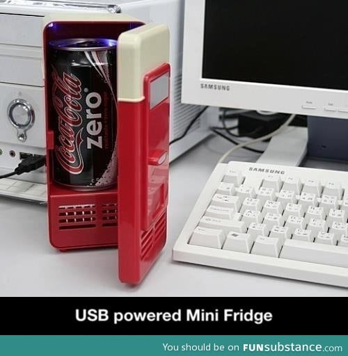 USB powered mini fridge
