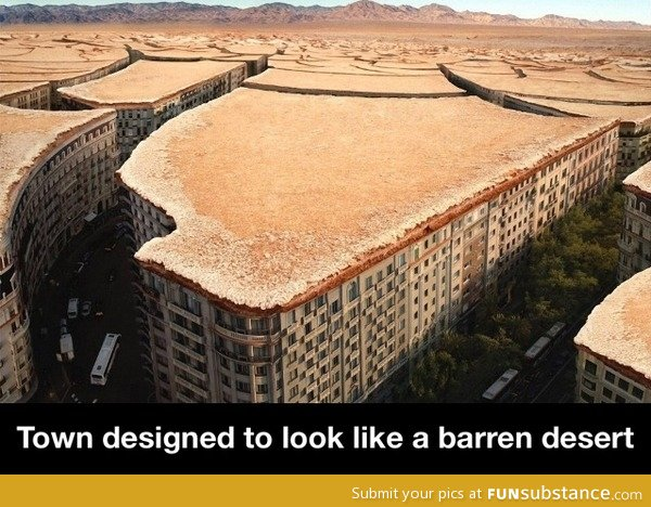 Town designed to look like a barren desert funsubstance What s it like to live in a small town