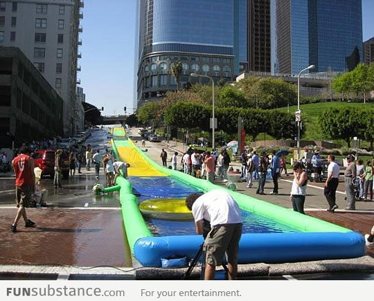 Awesome slip n' slide