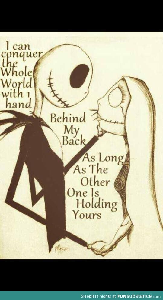 Nightmare before christmas quotes between jack and sally