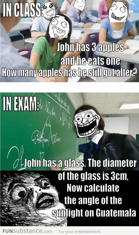 Happens in exams