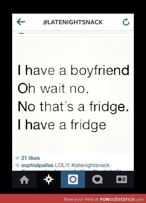 I love my fridge