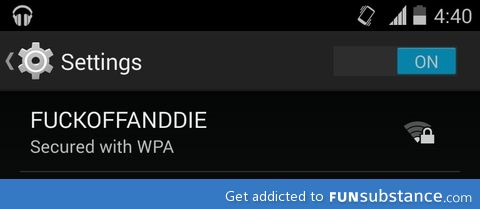 Someone doesn't want Andie on their wifi