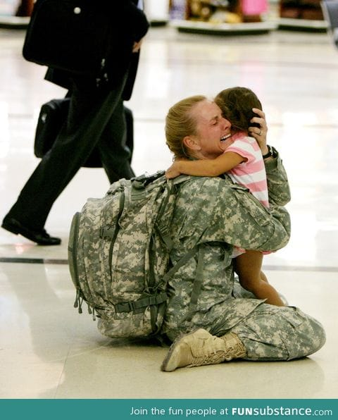 Terri Gurrola reuniting with her daughter after serving 7 months in Iraq.