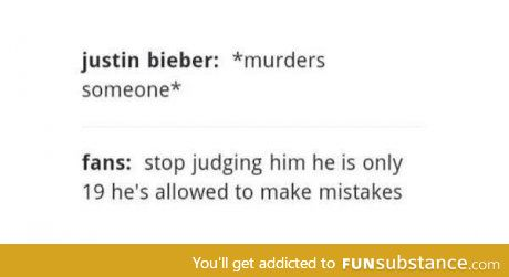 Those are the worst fans (sorry if you like Justin Bieber)