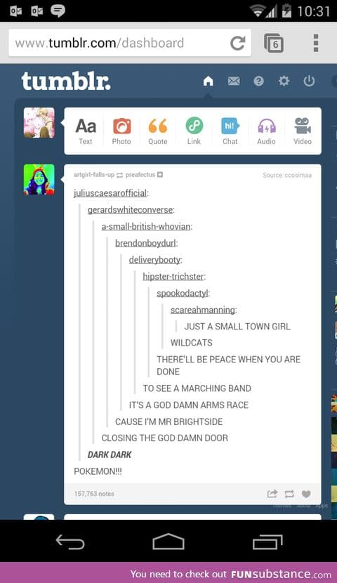 Tumblr summed up in one post