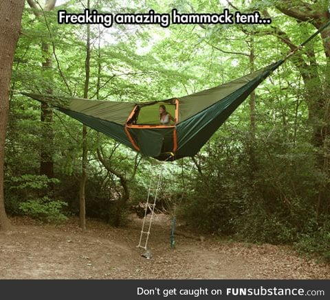 A hammock tent like no other