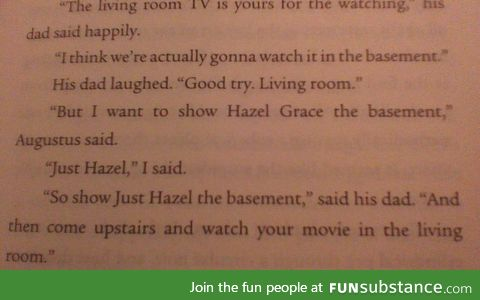Dad joke in John Green's The Fault in Our Stars