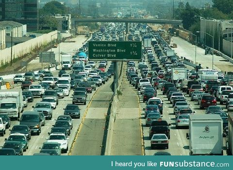 Gif of the trafic in LA
