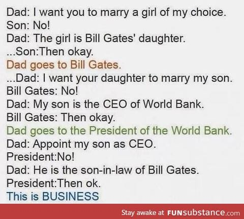 This is business