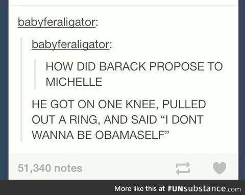 I don't wanna be Obamaself