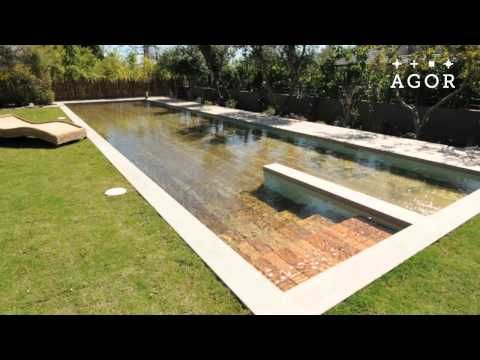 Magical floor sinks into the ground, transforming into a swimming pool