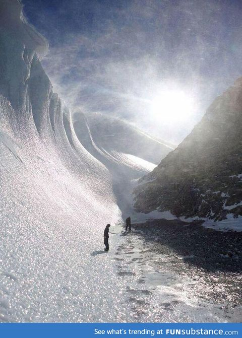Beautiful frozen wave in Antarctica