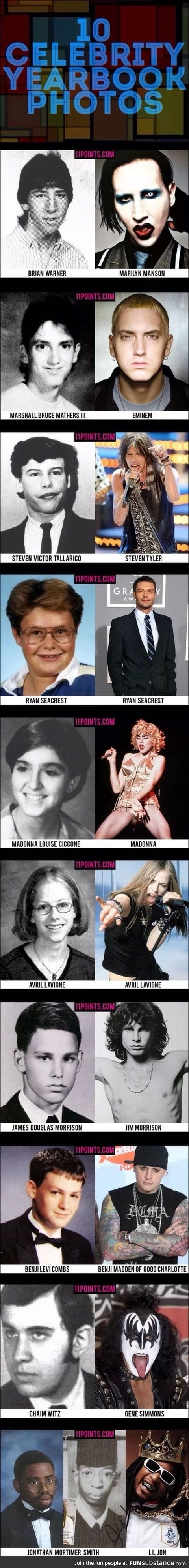 Celeb Yearbook Photos Then and Now