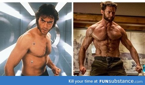 Hugh Jackman looks better as Wolverine as he ages