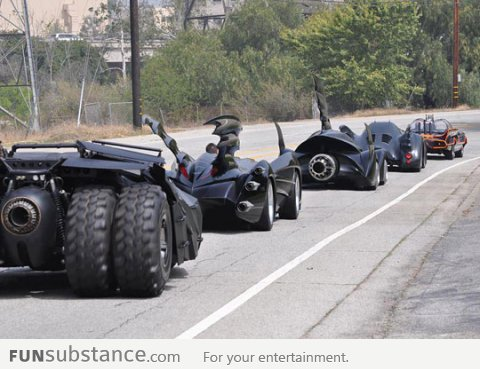 All the batman cars together in one photo