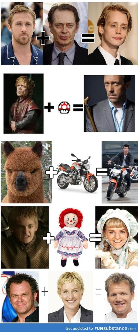 Freakishly accurate celebrity equations