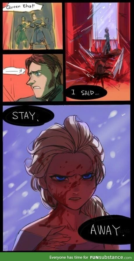 If Elsa were evil and angry