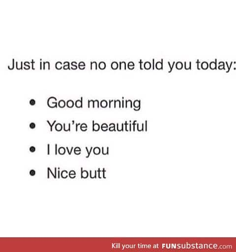 To everyone today