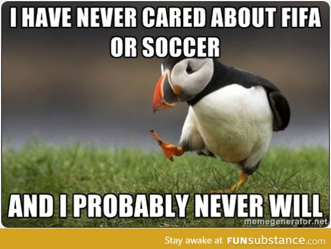 I could really care less about the World Cup