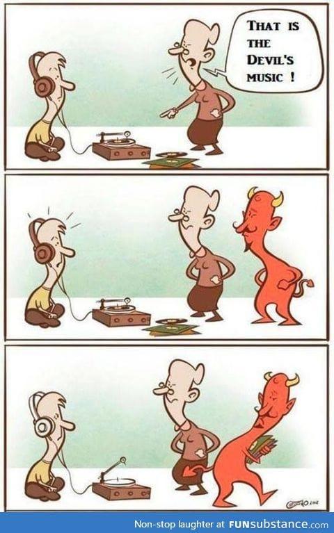 Poor devil, everyone keep taking his music.