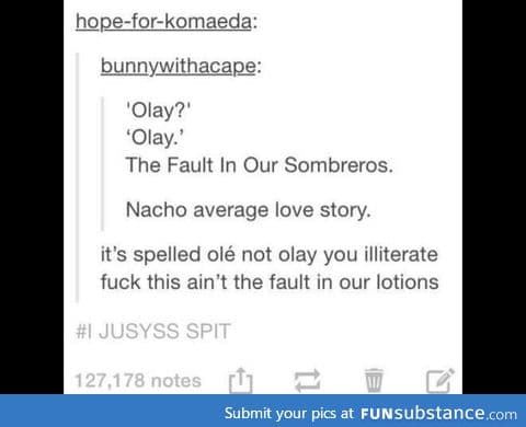The fault in our lotions:'D