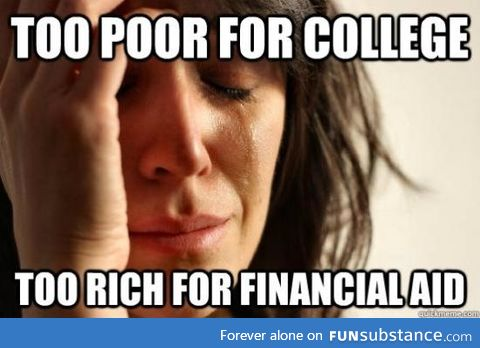 As a person getting ready for college, this really bothers me