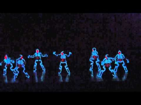 Cool Tron Light suit Dance