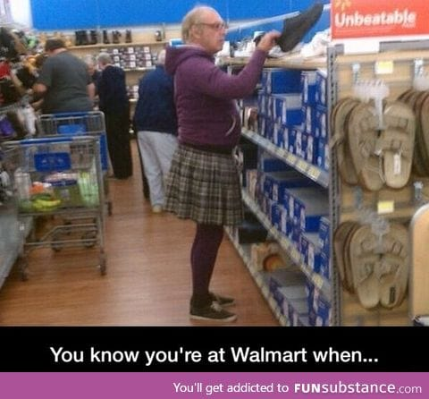 Only at Wal-Mart