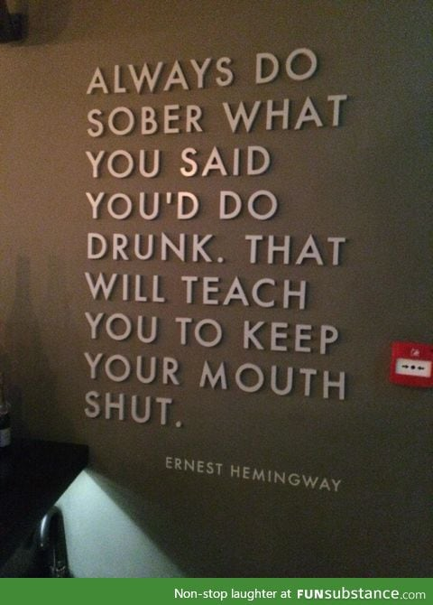Challenge for the heavy drinkers