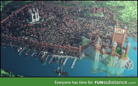 Kings Landing entirely built in Minecraft