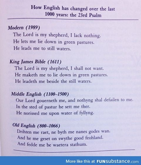the evolution of the english language over time