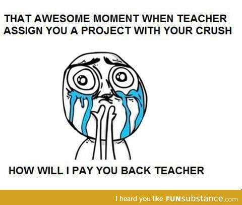 my teacher have never done this before; there was nothing be thankful about