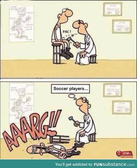 What we must not do for soccer player