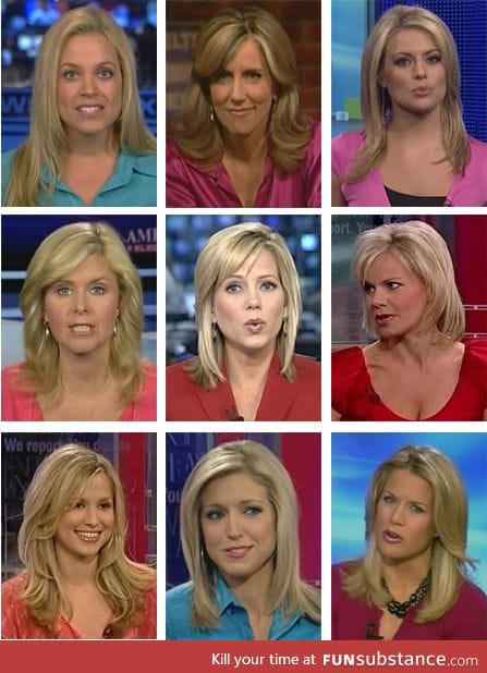 The diversity of Fox news anchors