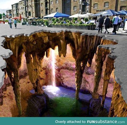 The most amazing 3D chalk art I have ever seen