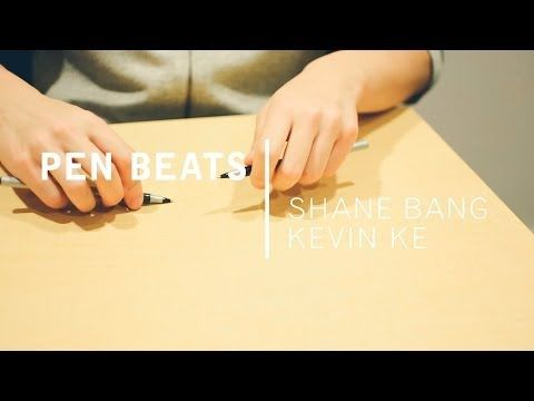 You can make the coolest beats using only pens and your desk
