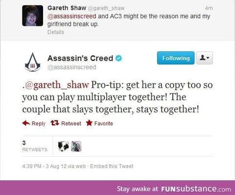 Ubisoft has some nice tips for your love life