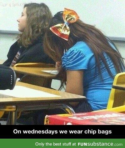 Chips bag hair ribbon