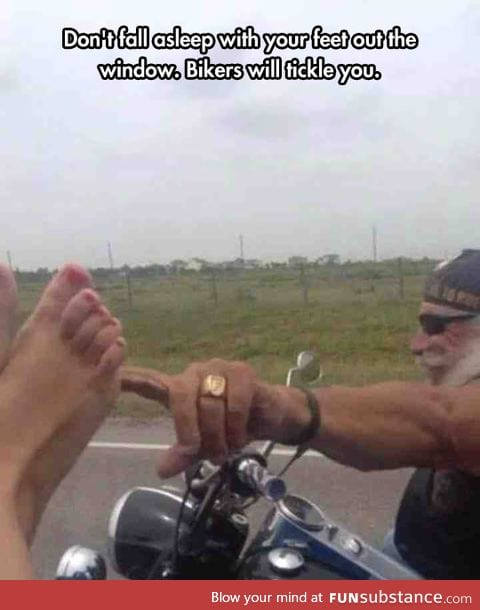 Those sneaky bikers