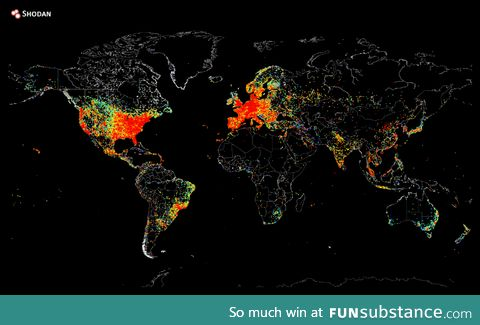 Map of devices connected to the Internet